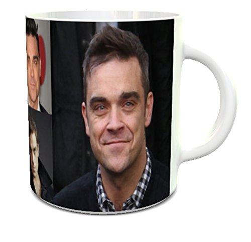 r&e personalised printing Taza de cerámica de Robbie Williams con diseño de Robbie Williams en la Taza de bebé a Adulto