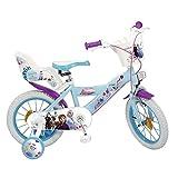 TOIM Bicicletta Frozen 2 Elsa Anna Olaf Disney 14' età 4/6 Anni con ROTELLE E Cestino E Cestino - 694