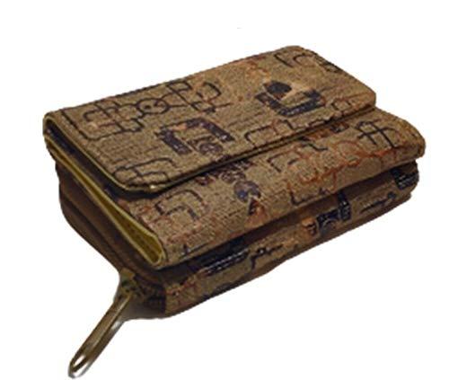 Cartera de mujer barata con clip monedero con cremallera porta tarjetas de...