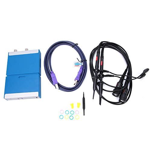 FastUU Osciloscopio de Almacenamiento Digital, osciloscopio Virtual Digital de Doble Canal, PC 50MHz de Ancho de Banda 1G con Cable USB de sonda para Uso General, Pruebas de precisión