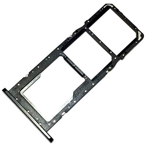 Bandeja Tarjeta Dual SIM y Soporte Micro-SD para Samsung Galaxy A02s (SM-A025F/DS), Repuesto Original, Negro