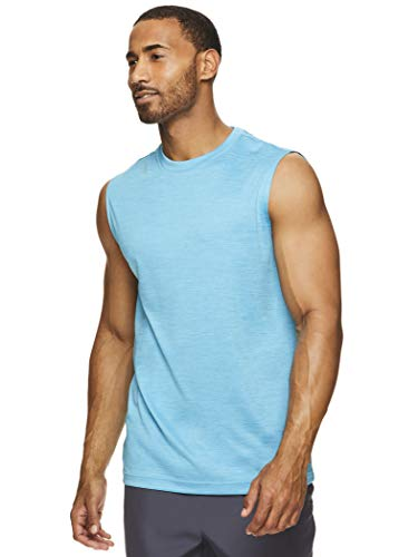 HEAD Power Gym Tenis y entrenamiento muscular, sin mangas, para hombre - azul - Medium