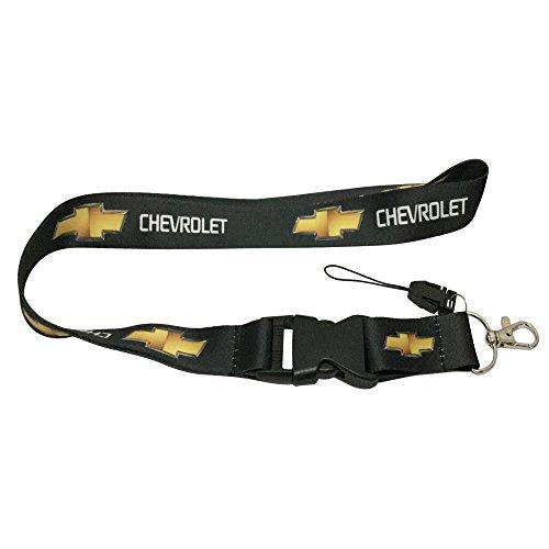 1pcs Black Color USA Ship New Quick Release Neck Strap Lanyard Keychain Keyring Car Keys House Keys ID Badges Card for Chevrolet Design