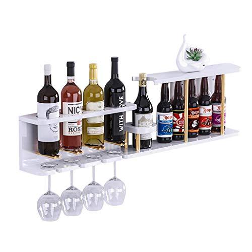 Wandleuchte Luxus Weinregal, Restaurant Creative Cup Holder, Wohnzimmer Wandregal, aus Holz