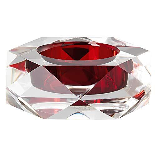 Rosenthal - Stella - Bordeaux - Tischlicht/Teelichthalter - Glas - rot - 9 x 9 cm