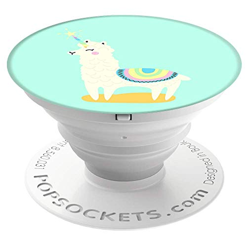 PopSockets Expanding Grip Case with Stand for Smartphones and Tablets - Llamacorn