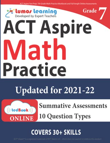 Act Aspire Test Prep 7th Grade Math Practice Workbook And Full Length Online Assessments Act Aspire Study Guide