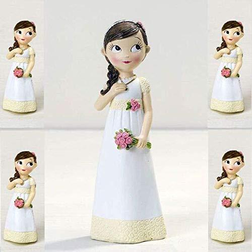 Momparler1870 Lot de 12 aimants et figurine gâteau de communion à jouer, fille romantique
