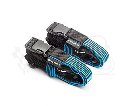 Grand Pitstop - Cinghie elastiche regolabili per bagagli da 55,9 cm - 172,7 cm, set di 2