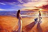 Rompecabezas De 1000 Piezas Para Adultos, Caminar En La Playa, Decoración De Ensamblaje De Madera Para El Hogar, Juego De Juguetes, Juguete Educativo Para Niños Y Adultos