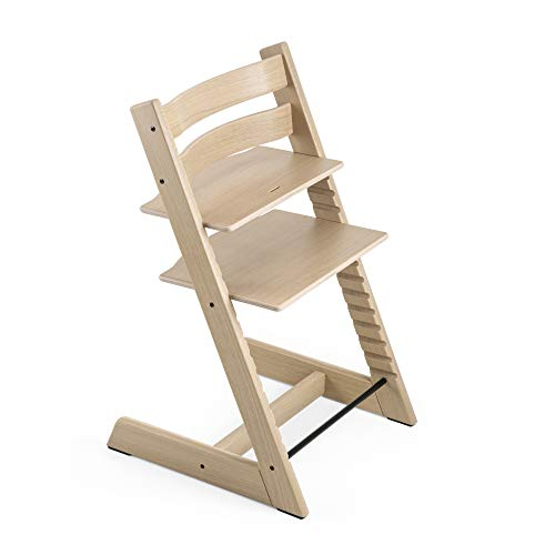 Tripp Trapp Chair from Stokke, Oak Natural - Adjustable, Convertible Chair for Toddlers, Children & Adults - Comfortable & Ergonomic - Made with Oak Wood