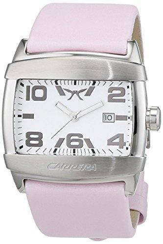 Carrera CW065451002 - Reloj de Pulsera Mujer, Cuero, Color Rosa