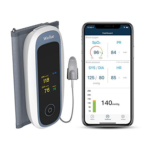 Bluetooth Blood Pressure Machines, Upper Arm Large Cuff with Smart APP, Wireless Integrated Design, Digital Health Monitor, Rechargeable, APP for iOS&Android