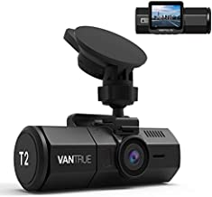 Vantrue T2 1080P 24/7 Recording Dash Cam with Motion Detection Parking Mode, 2'' LCD Car Camera with Capacitor, Sony Night Vision, OBD Hardwired Cable, G-Sensor, Loop Recording, Support 256GB Max