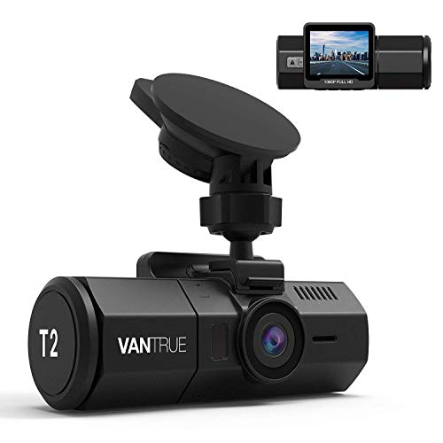 Vantrue T2 1080P 24/7 Recording Dash Cam with Radar Detection Parking Mode, 2'' LCD Car Camera with Supercapacitor, Sony Night Vision, OBD Hardwire Cable, G-Sensor, Loop Recording, Support 256GB Max