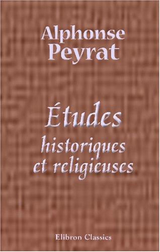 Études historiques et religieuses
