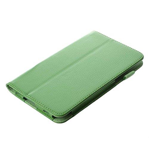 Gesh Funda de piel tipo libro con función atril compatible con Galaxy Tab 3 7.0 Kids/Galaxy Tab 3 7' P3200-verde
