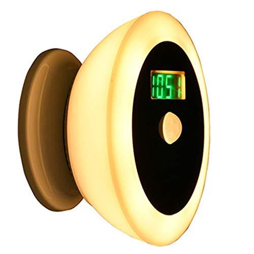 Phililps Luz de inducción del cuerpo humano LED Luz de despertador junto a la cama Luz nocturna para el hogar inteligente en el dormitorio con pantalla de tiempo y temperatura para pasillo