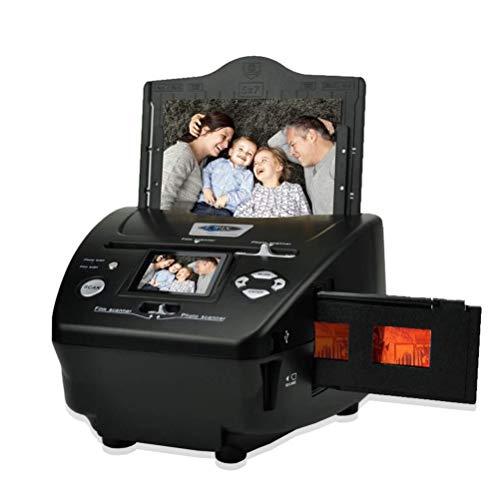 Digital Photo Slide & Film Scanner with Popular Scanner 2.4 inch 8.1 Mega Pixels 4 in 1 Photo and Film Scanner 135 Negative Scanner Photo Scanner Combo Scanner Views on Your Computer or USB(Black)