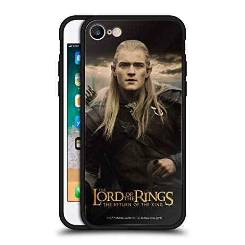 Offizielle The Lord Of The Rings: The Return Of The King Legolas Posters Schwarze Hybride Glas Rueckseiten Handyhülle Hülle Huelle kompatibel mit Apple iPhone 7 / iPhone 8 / iPhone SE 2020