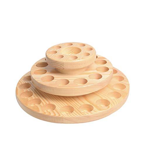 Yardwe Ätherische Öl Box Holz Ätherische Öl Lippenstift Display Aufbewahrungsbox Drehbar Tragbar für 39 Flachen