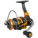 Okuma Trio High Speed Spinning Reel, Black/Orange