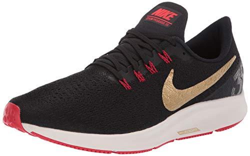Nike Air Zoom Pegasus 35, Chaussures d'Athlétisme Homme, Multicolore (Black/Metallic Gold/University Red 018), 41 EU