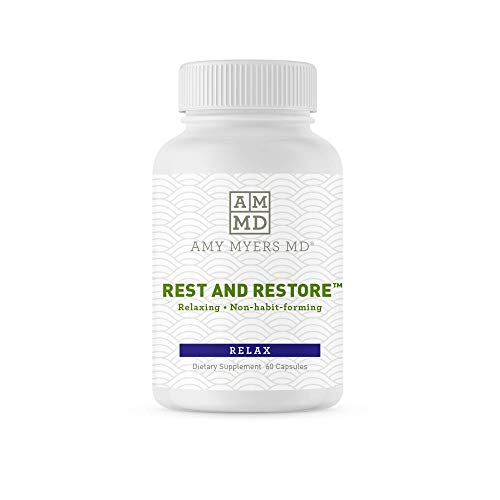 Rest and Restore by Dr. Amy Myers for Restful Sleep – Supports a Healthy Night's Sleep, Helps Maintain a Regular Sleep Cycle and Supports a Calm Relaxed Mood – Dietary Supplement 60 Capsules