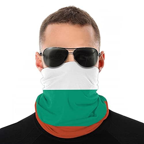 Xiaoxian Máscara de cuello transpirable con bandera búlgara, protector de pierna, máscara facial, turbante, pasamontañas, bufanda para hombres y mujeres