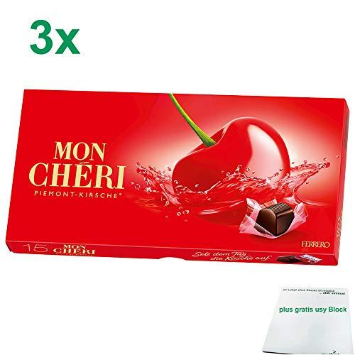 Ferrero Mon Cheri Officepack (3x157g Packung) inklusive gratis usy Block