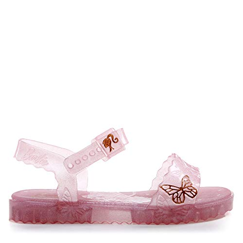 Sandália Grendene Barbie Butterfly Sandalia Meninas S: Rosa/Glitter 30