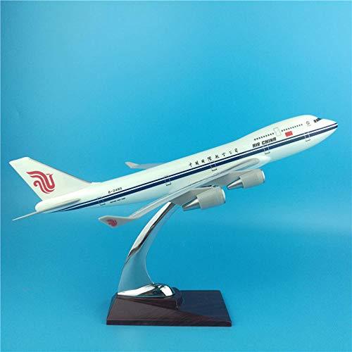 DAYUFEI 32 cm Air China Boeing 747 simulación Resina estática Modelo de avión Air China 747 Modelo de Escala de avión decoración