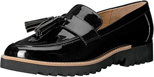 Franco Sarto Women's Carolynn Loafer Flat, Black, 9 M US