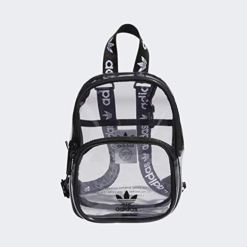 adidas Originals Unisex Clear Mini Backpack, Black, ONE SIZE
