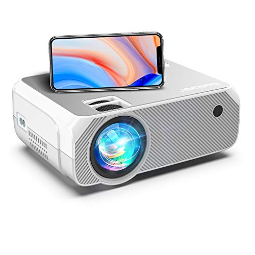 Proyector WiFi, Proyector Portátil Full HD 1080P 6000 LM, BOMAKER Video Proyector Inalámbrico Mini Cine en Casa, Zoom X/Y, 300'/HDMI/iPhone/Android/TV Stick/PS4/Laptop, GC355