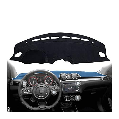 WYYUE Cubierta del Tablero Cubiertas, Dashboard, Salpicadero de Coche Alfombras para Parasol, Coche Interior Compatible con Suzuki Swift (ZC33S/13S/53S/C83S) 2018 2019