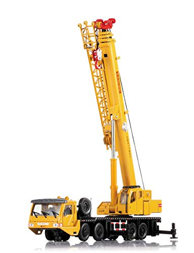 AOTE-D Ingeniería Camión Grúa Camión Coche Modelo De Aleación 1:50 Crane Crane Amarillo Juguete Niño Niño Chica Regalo