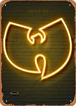 EICOCO Neon Signs Wu Tang Clan Plaque Poster Metal Tin Sign 8  x 12  Vintage Retro Wall Decor