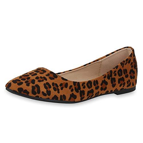 SCARPE VITA Mujer Manoletinas clásicas 181591 marrón Claro Leopardo 37
