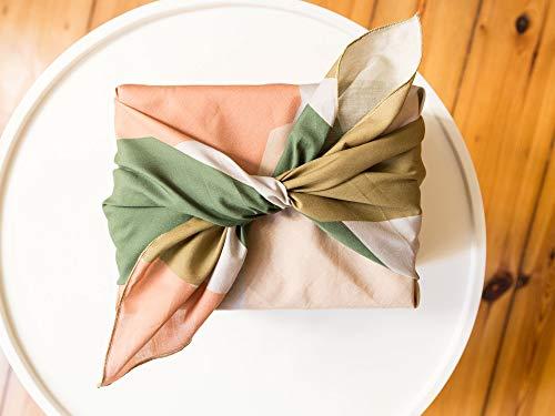 Furoshiki Geschenkverpackung aus Stoff 70x70cm (groß), nachhaltiges Geschenktuch aus Baumwolle