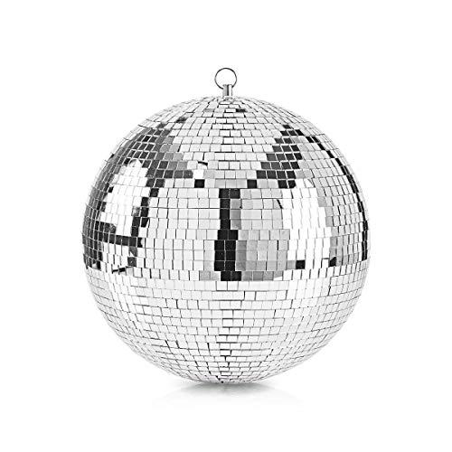 TronicXL XXL 30cm Premium Glitzer Spiegelkugel Spiegelball Spiegel Kugel Ball Disco Beleuchtung