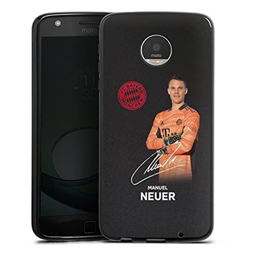 DeinDesign Silikon Hülle kompatibel mit Lenovo Moto Z Play Hülle schwarz Handyhülle FC Bayern München Manuel Neuer Offizielles Lizenzprodukt