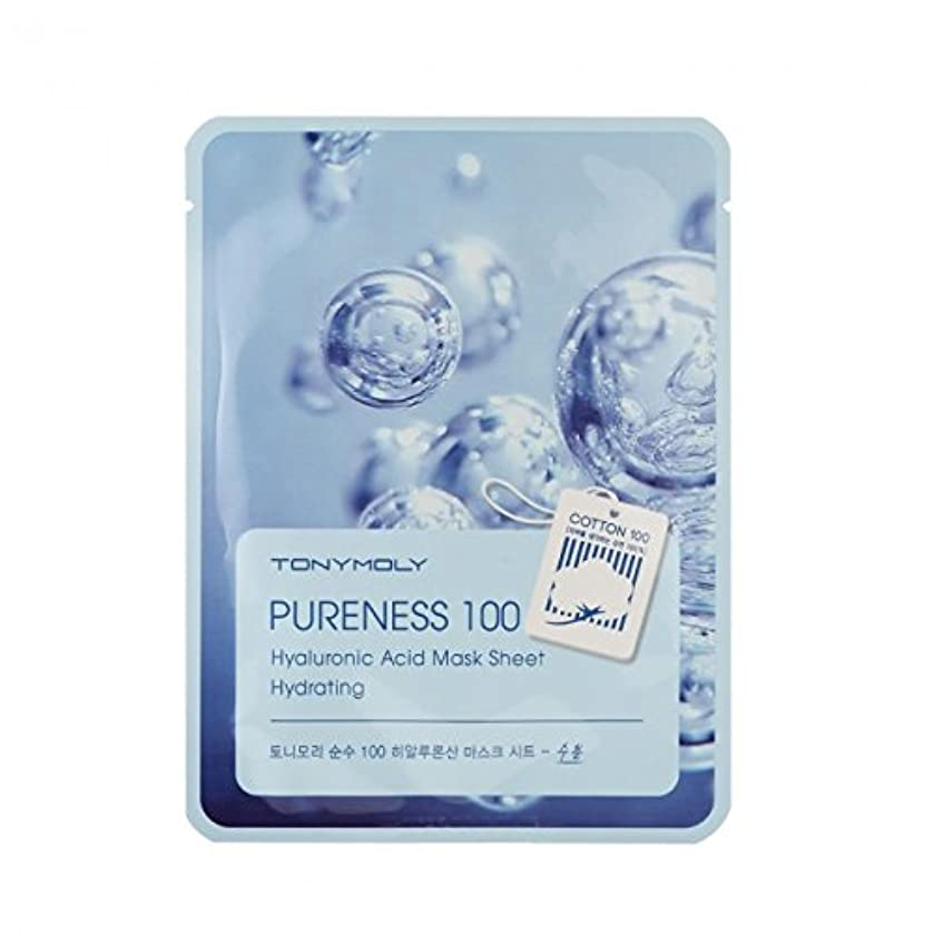 オーバーフローシンボル極小TONYMOLY Pureness 100 Hyaluronic Acid Mask Sheet Hydrating (並行輸入品)