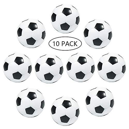 MOOKLIN ROAM 10 Stück 32mm Tischfußball Kickerbälle Kunststoff Tischbälle Tischfußball Kugeln Mini Ball Schwarz und Weiß für Erwachsene geburtstagspartybevorzugungen, Partytaschenfüller