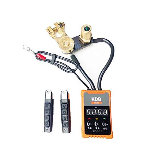FDSAD Coche de desconexión de la batería de Control Remoto inalámbrico de 12V Coche RV Corte/Apagado, Interruptor de batería de Control Remoto de automóvil, Terminal de batería remota
