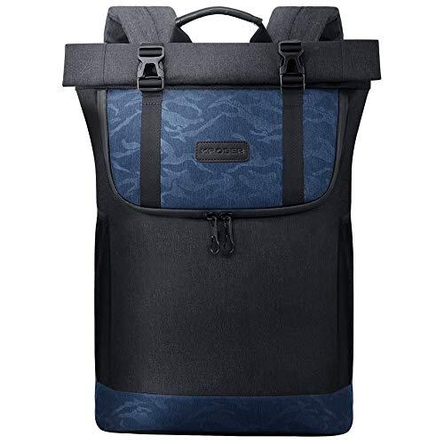 KROSER Roll Top Laptop Backpack 15.6 Inch Travel Computer Backpack...