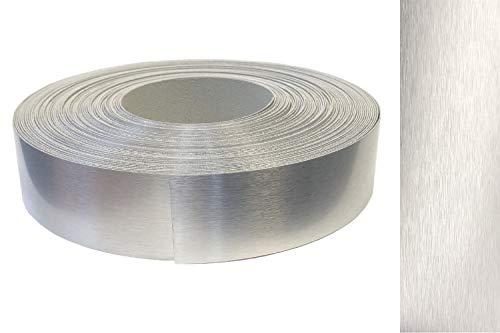Kantenumleimer ABS 42mm x 5m mit Schmelzkleber in echt Aluminium Alu gebürstet