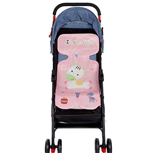 Colchoneta para silla de paseo Venero,73 * 33 cm Cojín Animales Fresco de Asiento de carrito de niño,Seda del Hielo del Amortiguador de la Silla Decoración de Hogar (Rosa)