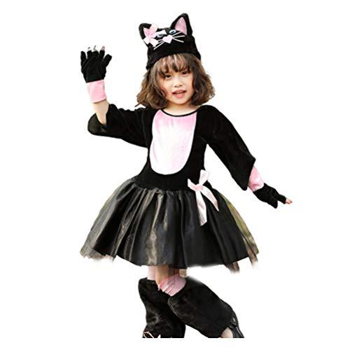 SOIMISS Disfraz de Cosplay de Halloween Gato Juego de Roles Ropa Escenario Vestido de Rendimiento Talla XL