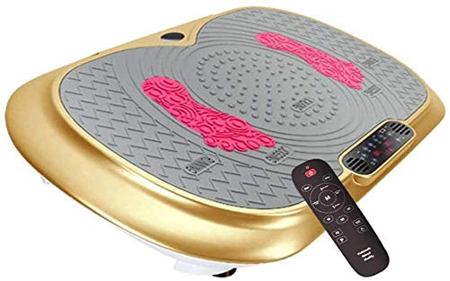 DXYSS Plataforma Vibratoria Ultra Slim Vibratoria Máquinas de Ejercicios, for Bajar de Peso for los Adultos Principal Formación e Shaping, aparatos de Gimnasia, Pantalla LCD Grande de Color: Oro